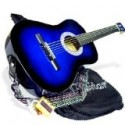 38″ Inch Student Beginner BLUE Acoustic Guitar with Carrying Case & Accessories (Free eBook & DirectlyCheap(TM) Translucent Blue Medium Guitar Pick) Reviews