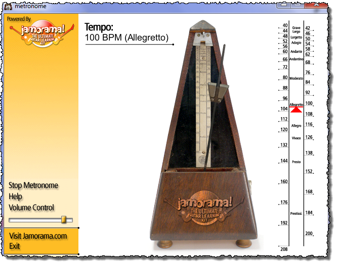 Jamorama Metronome Screenshot