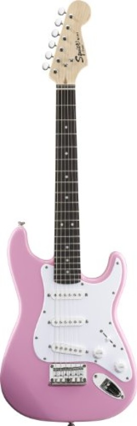 Fender Squier® Mini Stratocaster® Electric Guitar, Pink, Rosewood Fretboard
