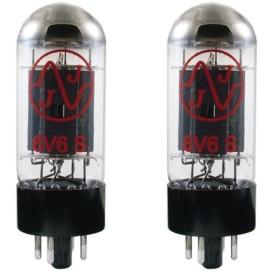 JJ Electronics T-6V6-S-JJ-MP Vacuum Tube Spiral Filament Matched Pair