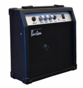 10 Watt Bass (Base) Guitar Amplifier Combo Amp Practice BA-10W & DirectlyCheap(TM) Translucent Blue Medium Pick