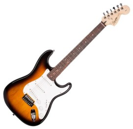 """Squier by Fender """"Stop Dreaming, Start Playing"""" Set: SE Special Guitar with Squier SP-10 Amp, Tuner, Instructional DVD, Gig Bag, Cable, Strap, and Picks – Brown Sunburst"""