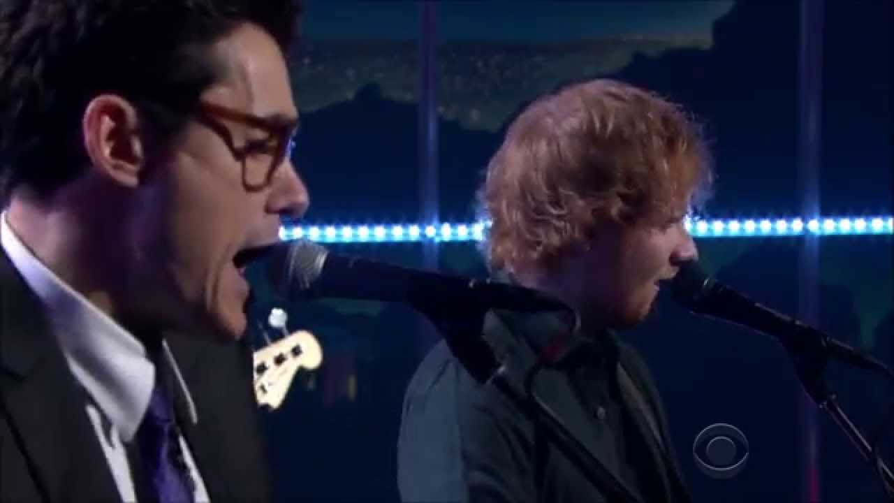 Ed Sheeran and John Mayer Playing Don't On The Late Late Show