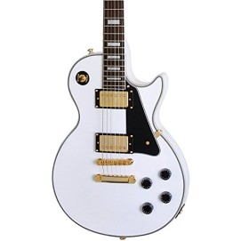 Epiphone Les Paul Custom Pro Electric Guitar with ProBuckers and Coil Tapping, Alpine White