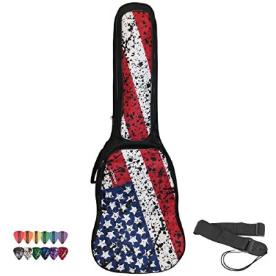 ChromaCast Padded Electric Guitar Gig Bag with American Flag Graphics