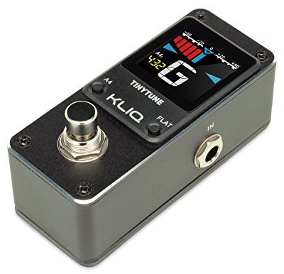 KLIQ TinyTune - Tuner Pedal for Guitar & Bass - Mini - Chromatic - with Pitch Calibration & Flat Tuning (Power Supply Required)