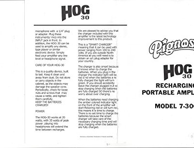 Pignose 7-300 HOG-30 Amplifier