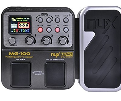 NUX MG-100 Electric Guitar Multi-Effects Pedal Processor EFX AMP EQ Mixer
