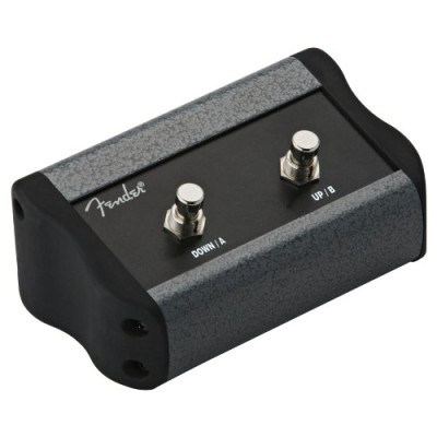 Fender 2-Button Programmable Footswitch for Preset Up Down, Quick Access, Effects On/Off or Tap Tempo with 1/4-Inch Jack