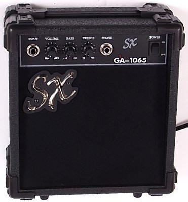 SX RST 3/4 CAR Short Scale Red Electric Guitar Package with Amp, Carry Bag and Instructional DVD