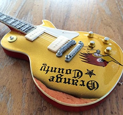 MIKE NESS Mini Guitar SOCIAL DISTORTION Orange County Miniature Guitar Model Collectible