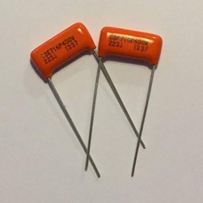 2x (Pair) .022uf/400v Orange Drop Film Capacitors